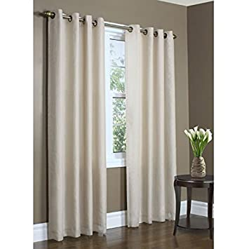 Superb Thermalogic Eight Grommets Rhapsody Thermavoile Lined Curtains, White,  54u0026quot; ...