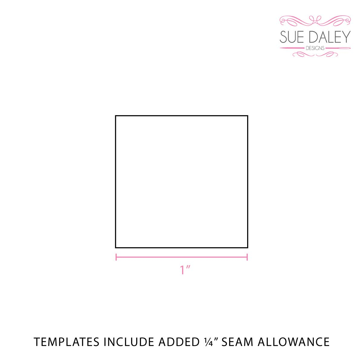 Sue Daley Designs Square Template Patchwork with Busyfingers EPP English Paper Piecing 4 inch