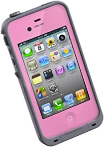 LifeProof FRĒ iPhone 4/4s Waterproof Case - Retail Packaging - PINK/GREY (Discontinued by Manufacturer)