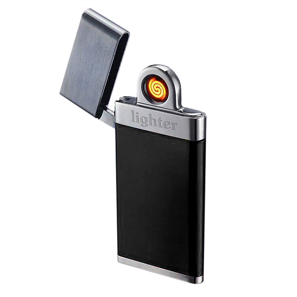 E3L Ultra-slim Coil Lighter USB Rechargeable Windproof Lighter Flameless Tungsten Wire Lighter