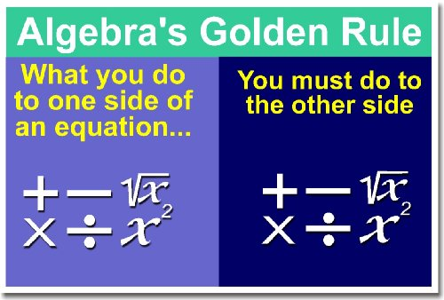 Math: Algebra's Golden Rule, Classroom Poster