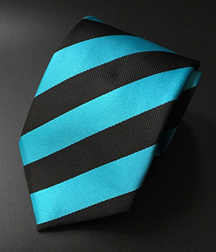 Partie D'affaires De Soie Rayée Hommes Mindeng Cravate Personnalisée Taille Bleu Foncé