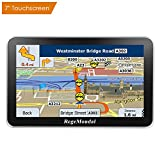 RegeMoudal Car GPS Navigation System Sat Nav Vehicle 7'' 8G Memory Stereo Portable Navigator Touch Screen Multimedia Pre-Installed US Lifetime Maps Free Update Driver Alerts USB Cable Car Charger Mount