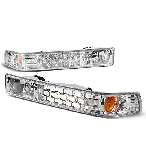 Chevy Blazer / S10 Pickup Pair of Clear Lens Amber Corner LED Look Turn Signal Lamps