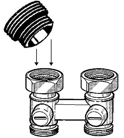 Heizung Messing Heizk/örperanschluss-Hahnblock vernickelt Durchgangsform