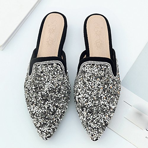 Mules Mules Femme Jyshoes Jyshoes Silber Femme Silber Jyshoes Mules Femme Silber X6Ow6q