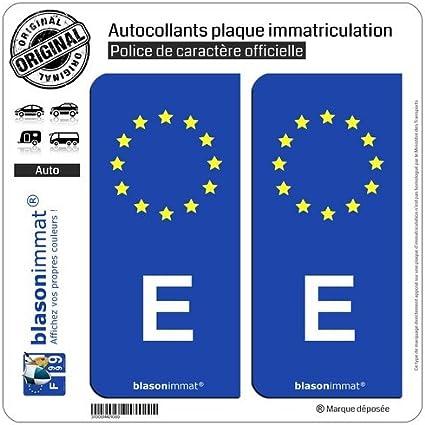 2 pegatinas de placas posteriores de matrícula con la E de España ...