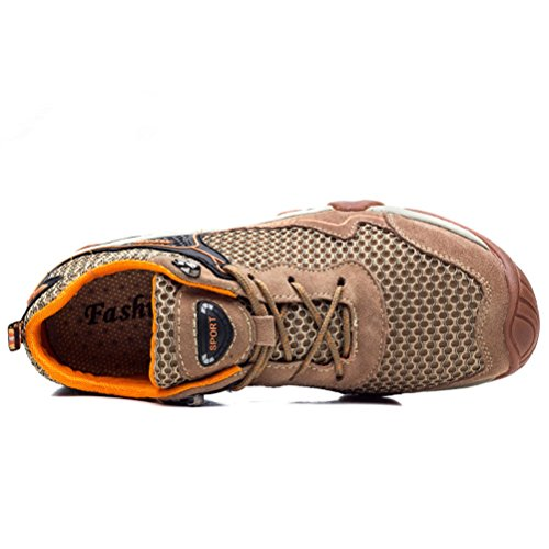 caqui caminar al gamuza Dannto impermeables c transpirable duradera hombres libre para para ligeros para trekking Zapatos zapatos de seguridad aire Zapatos caminar de de Sw84ztqB