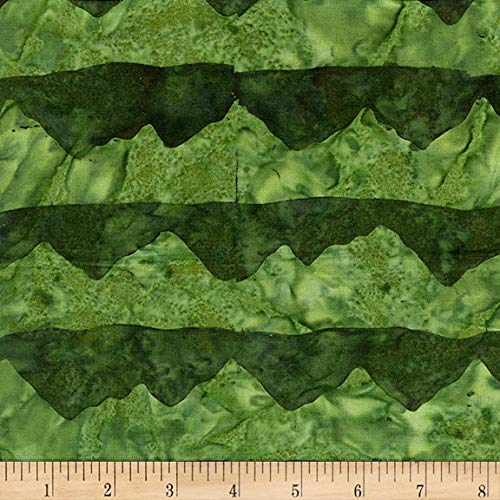 Island Batik Plum Delicious Mountain Stripes Fern Fabric by The Yard