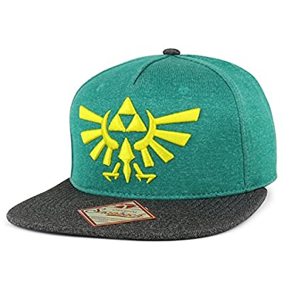 Armycrew Zelda 3D Tri Force Logo Embroidered Stretchy Polyester Snapback Hat
