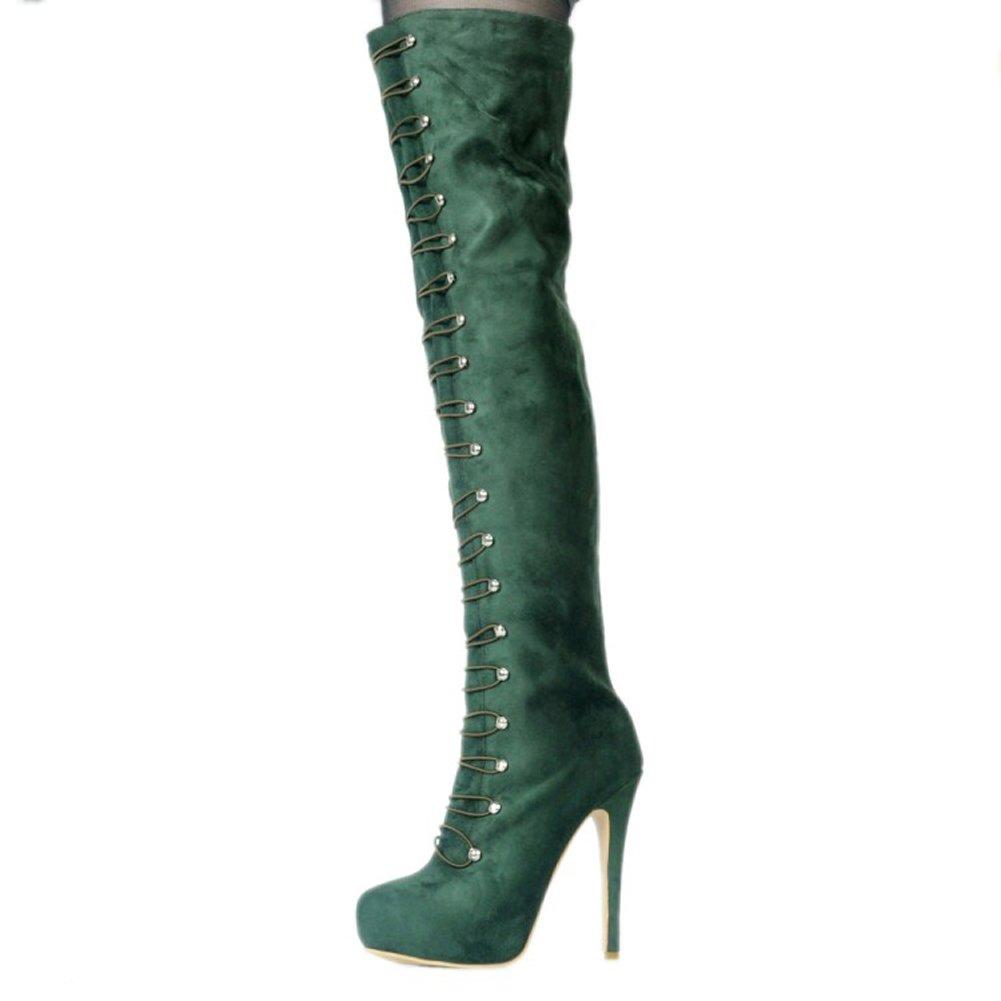 Overknee-Stiefel Damen,MERUMOTE Stiletto Rounde Plattform Sexy Schuhe Schuhe Schuhe für Part Club Ausgehen 0a9395