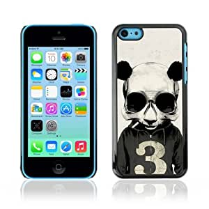 YOYOSHOP [Funny Smoking Panda Hoodie] Apple iPhone 5C Case by Maris's Diary