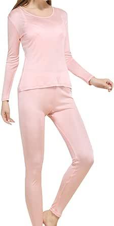 Fashion Silk Women's Silk Thermal Underwear Sets   Silk Long Johns for Women   Silk Long Underwear Sets