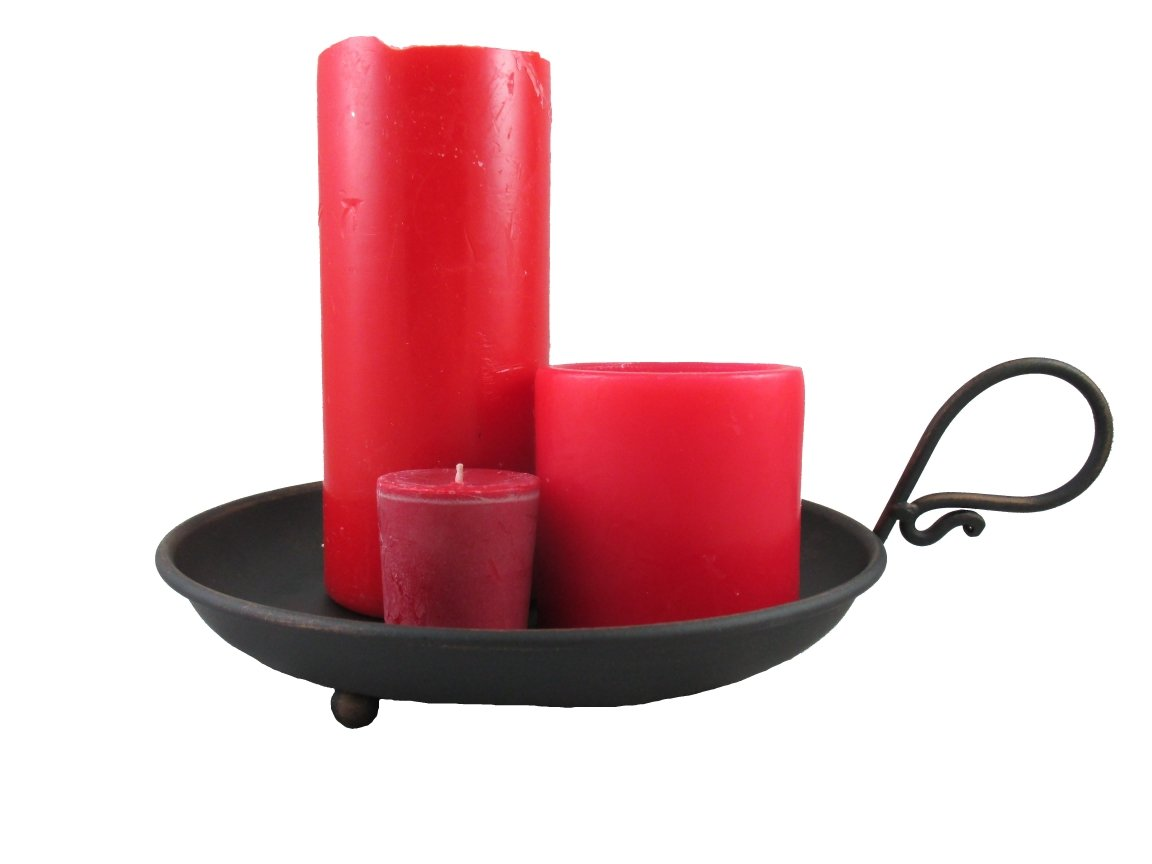 MayRich 8.5'' x 1.5'' Metal Round Tray Candle Holder
