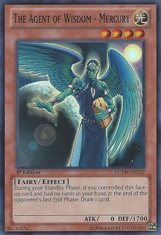 Yu-Gi-Oh! - The Agent of Wisdom - Mercury (LCYW-EN252) - Legendary Collection 3: Yugi's World - 1st Edition - Super Rare