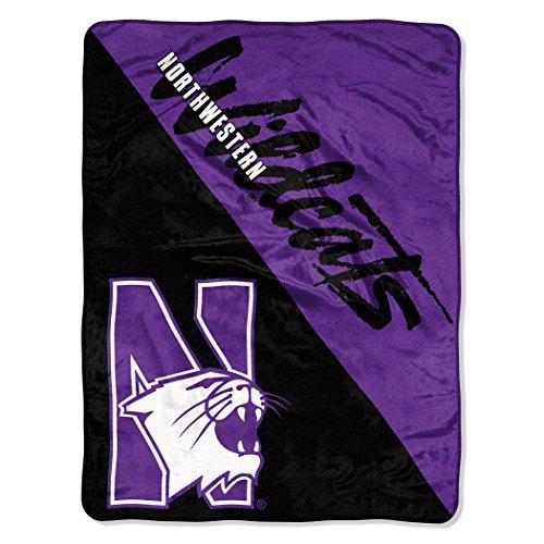 Northwestern Wildcats University Football - Officially Licensed NCAA Northwestern Wildcats Halftone Micro Raschel Throw Blanket, 46