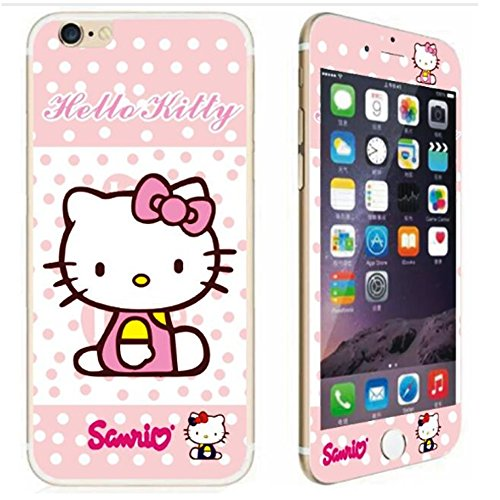 SALE - CRISHER Front+Back Hello Kitty Sanrio Tempered Glass For iPhone 6 Plus / 6S Plus (5.5 inches)