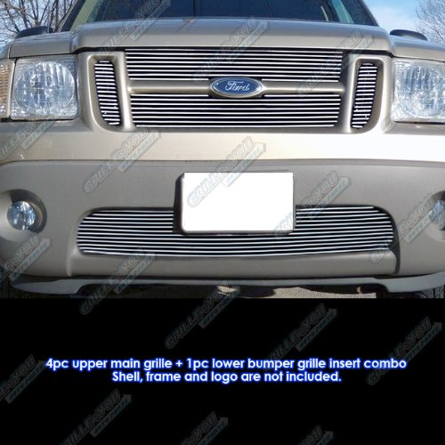 (APS Fits 2001-2005 Ford Explorer Sport Trac Billet Grille Combo #F67942A)