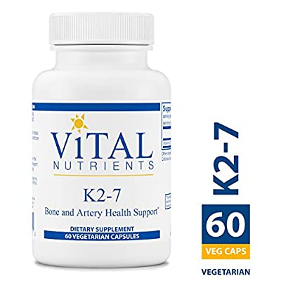 Vital Nutrients - K2-7 - Bone and Artery Health Support - 60 Capsules