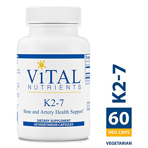 Vital Nutrients - K2-7 - Bone, Artery, and Cardiovascular Health Support - 60 Capsules per Bottle
