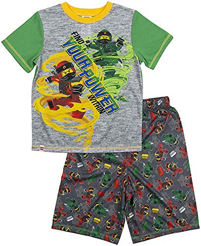 LEGO Boy's Ninjago 2-pc Pajama Short Set (6-7, Green/Blue) (Lego Train Set 10233)