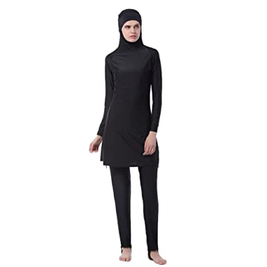 504d6fc1cd4 Meijunter Middle East Muslim Modest Full Cover Sun Protection 2-Pieces  Swimsuit Bathing Suit Islamic Arab Malaysia Hijab Swimwear Burkini Beachwear  for ...