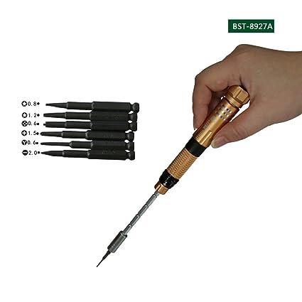 Bst-8927A - Juego de destornilladores de precisión 6 en 1 Pentalobe ...