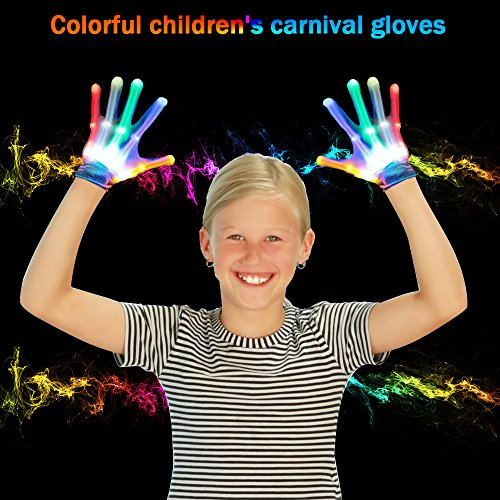 Toys for 3-12 Year Old Boys, TOP Gift LED Flashing Gloves Novelty Toys Toys for 3-12 Year Old Girls Cool Fun 2018 Christmas New Gifts for Kids Boys Girls 3-12 Stocking Fillers GL01
