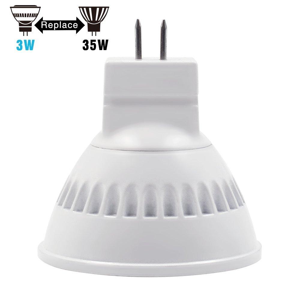 Pack of 2 30 Deg Accent TORCHSTAR AC//DC 12V 3W MR11 LED Bulb Track Lighting Beam Angle for Home 35W Equivalent GU4 Base Recessed 2700K Soft White LED Spotlight