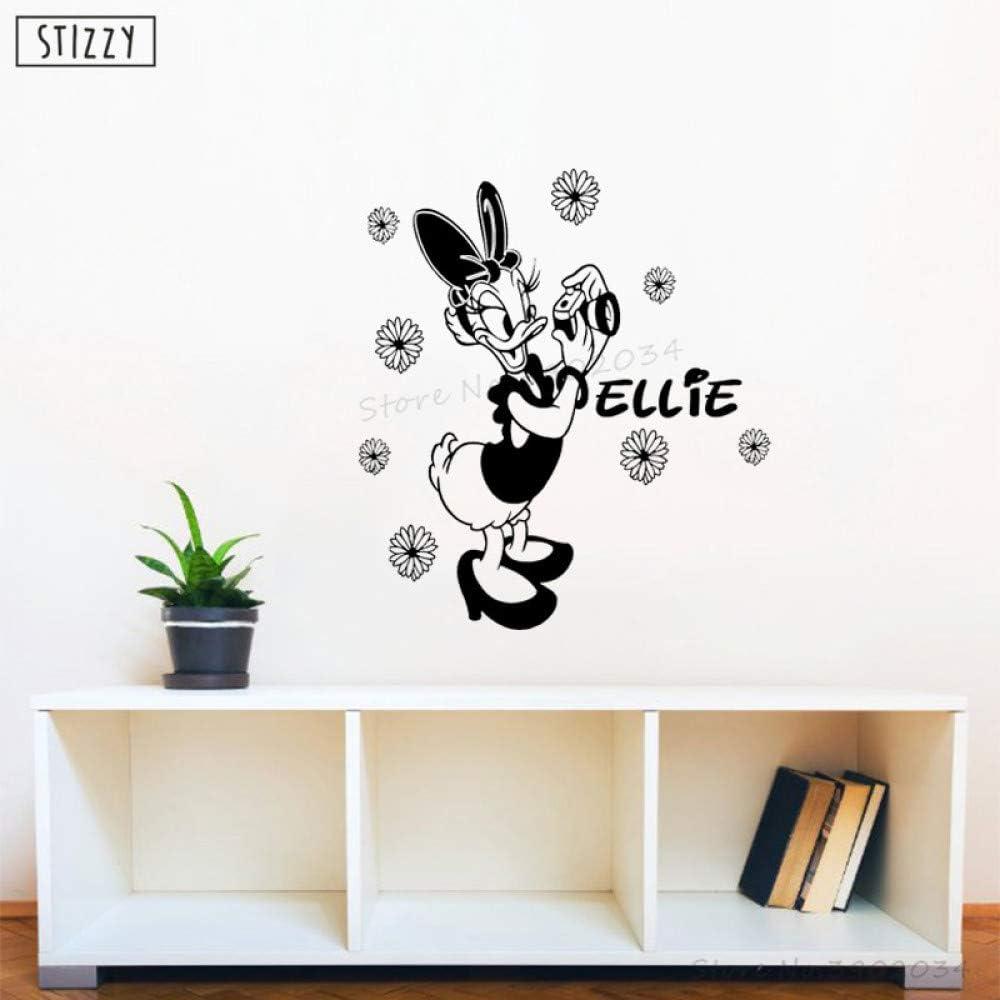Etiqueta de la pared de Dibujos Animados de Pato Nombre ...