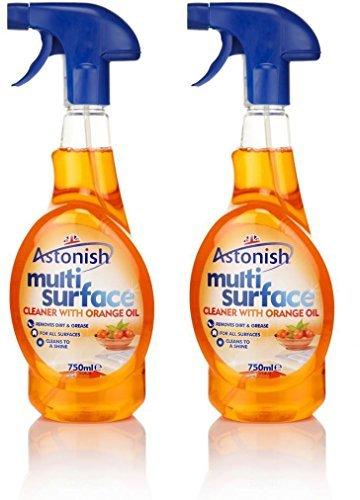 Cleaner Trigger Oil Spray Orange - 2 x Astonish Multi Surface Cleaner Trigger Spray 750ml With Orange Oil by Astonish
