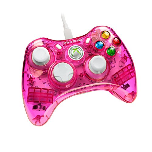 PDP Rock Candy Wired Controller for Xbox 360, Pink Palooza (Pink Wired Xbox 360 Controller)