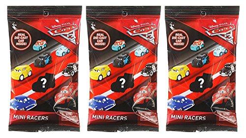 Cars 3 Die Cast Mini Racers Blind / Mystery Packs by Mattel - 3 Pack