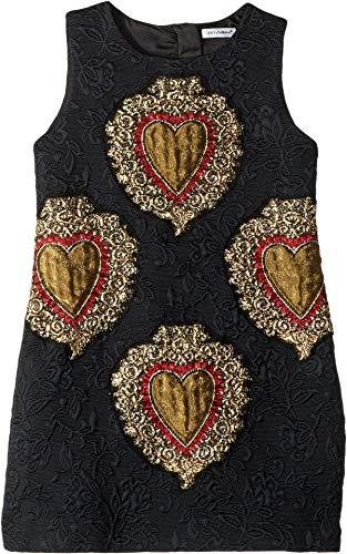 Dolce & Gabbana Kids Baby Girl's Jacquard Dress (Toddler/Little Kids) Black 6 (Black Gabbana Little Dress Dolce &)
