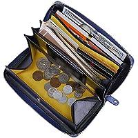 Itslife Women's RFID Blocking Leather Zip Around Wallet Clutch Large Travel Purse