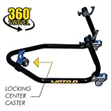 MOTO-D PRO-Series Motorcycle Rear (Floating) Stand - Caster Wheels Movable Rolling Stand