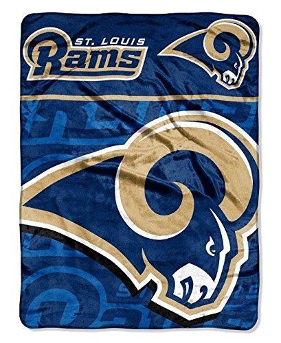 NFL St. Louis Rams Micro Raschel Plush Throw Blanket, Livin Large Design