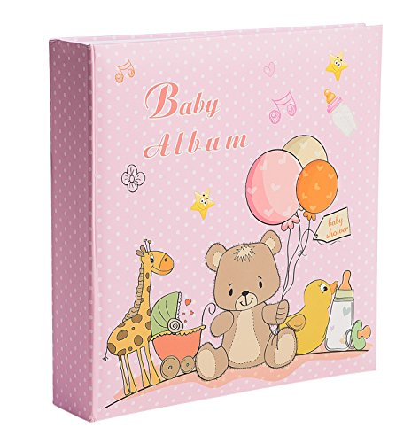 Baby Girl Photo Album - Holds 200 4x6 Inch Photos - by Bay Area Housewares