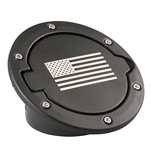 Opar Black Fuel Filler Door Cover for Jeep Wrangler JK