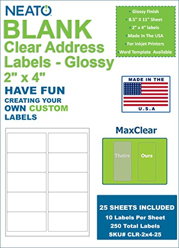 Neato Clear Address Labels - 2