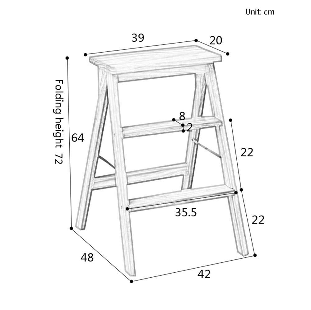 Amazon.com: Taburete para escaleras, escaleras de madera ...