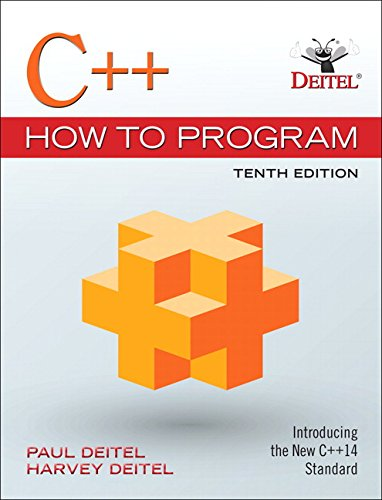 C++ How to Program (10th Edition) ISBN-13 9780134448237