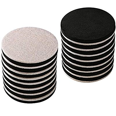 """16-Pack 3.5 in.Premium Heavy Furniture Movers for Wood Floor,Felt Furniture Slider in a Reusable Tube,3.5"""" Heavy Duty Felt Furniture Sliders,Furniture Mover,Reusable Furniture Moving Pads-EZHOUSE"""