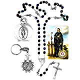 DIRECT FROM LOURDES Saint Peregrine Ribbon Rosary Beads - Patron Saint of Cancer Chaplet, Relic Card, Saint Peregrine…