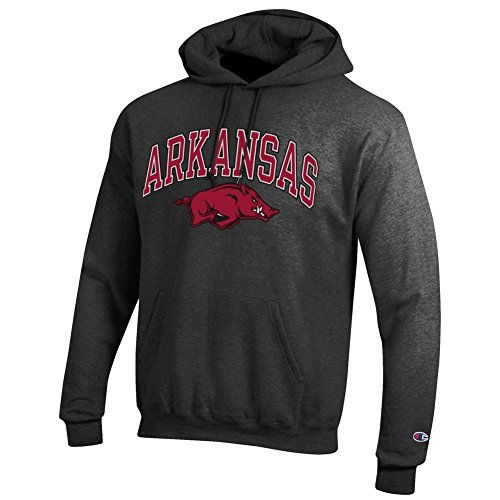 Razorback Apparel Arkansas - Elite Fan Shop Arkansas Razorbacks Hooded Sweatshirt Varsity Charcoal - XL