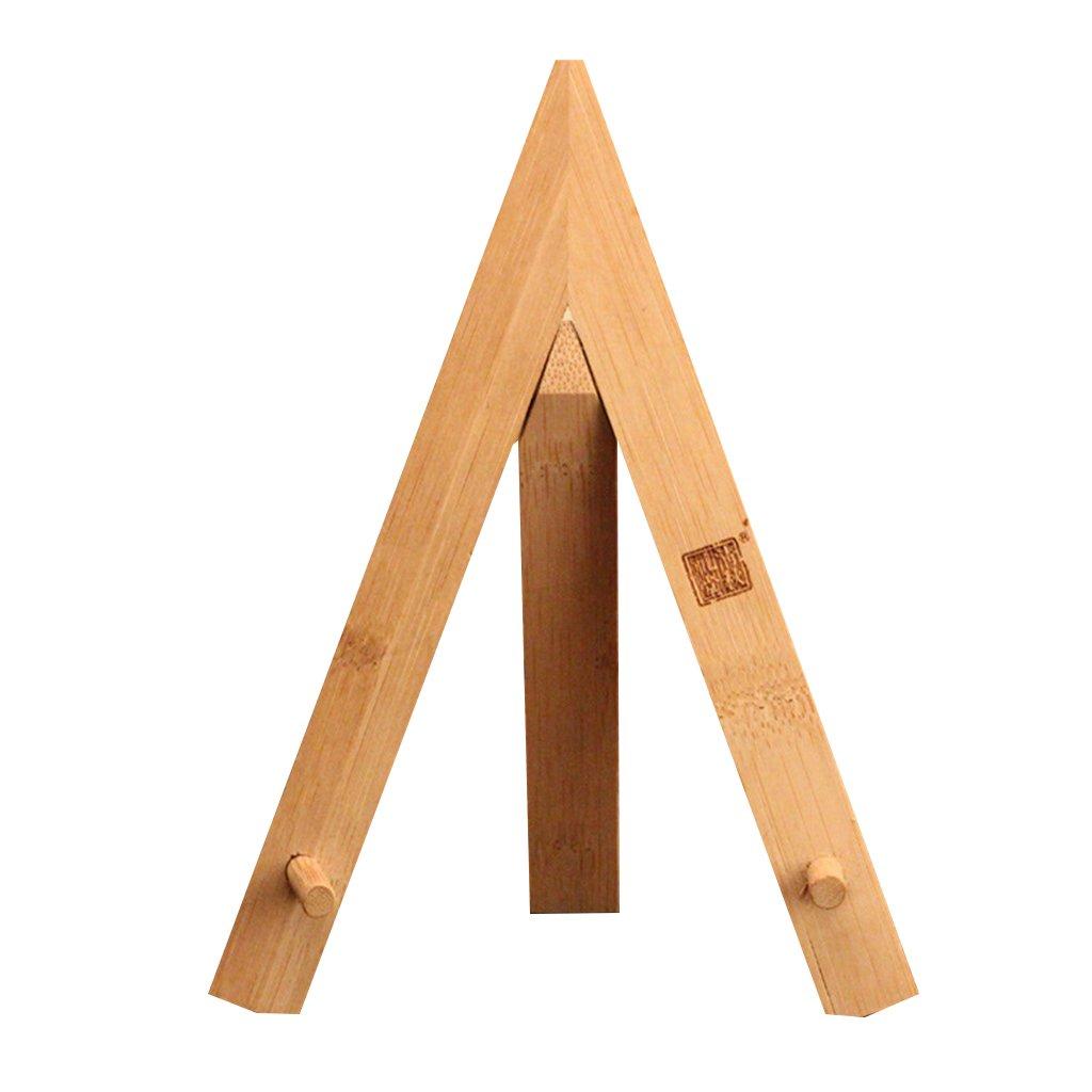 kesoto Bamboo Pu-erh Tea Cake Holder Natural Solid Wood Display Stand Tea Utensils Tripod