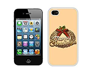Iphone 4S Case,Christmas Olive Branch Durability Apple Iphone 4 4s Silicone White Case