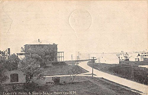 Hampton New Hampshire Leavitts Hotel Birdseye View Antique Postcard K86093