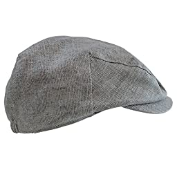 juDanzy baby & toddler Plaid Cabbie hats (1-4 Years, Gray Chambray)
