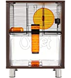 Walnut Style Qute Gerbil and Hamster Cage